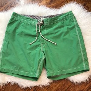 "Men's J. Crew 7"" Board Shorts in Green"